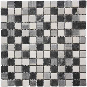 Mosaico Piedra natural y cerámica_Malla Mosaico