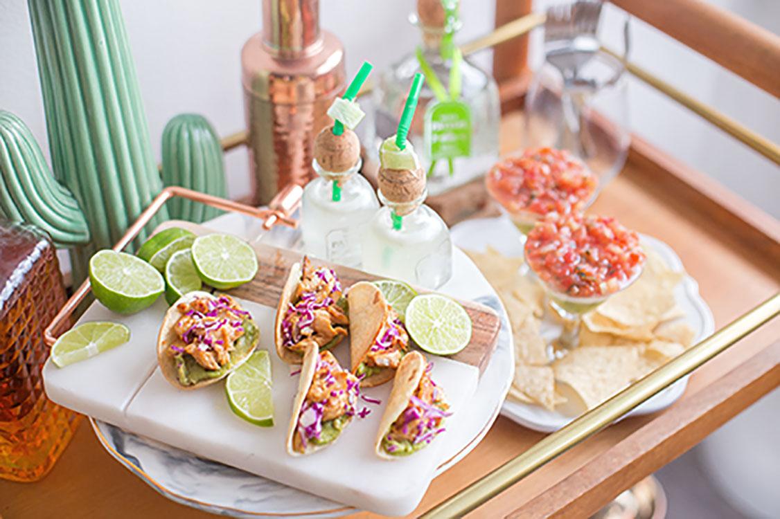 Bandeja de tacos mármol